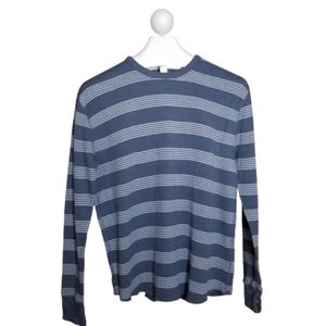 Gap Mens Striped Waffle Knit Thermal Long Sleeve